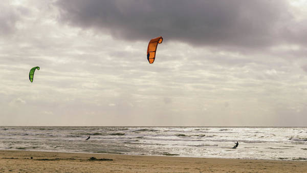 Photograph - Windsurfers In The Netherlands by Alexandre Rotenberg