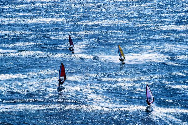 Photograph - Windsurfers Mokuleia Beach by Thomas R Fletcher