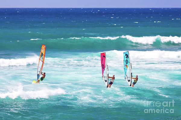 Wall Art - Photograph - Windsurfers On Hookipa Beach Maui Hawaii by ELITE IMAGE photography By Chad McDermott