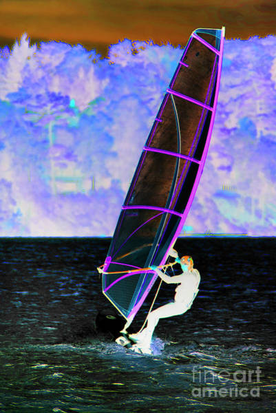 Photograph - Windsurfing Abstract-1 by Steve Somerville