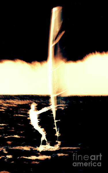 Photograph - Windsurfing Abstract-2 by Steve Somerville