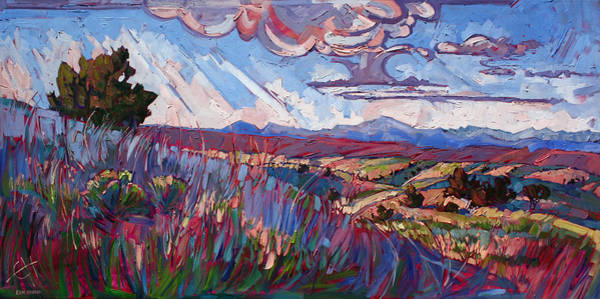 Red Rock Painting - Windswept Plains by Erin Hanson