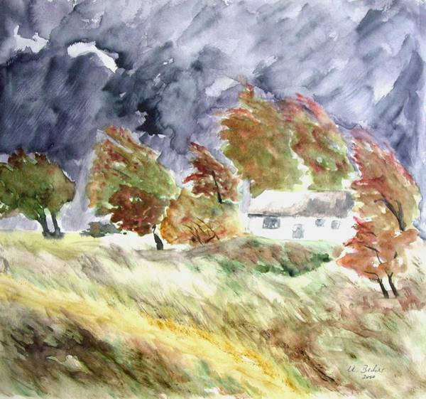 Painting - Windswept Landscape by Joy of Life Art Gallery