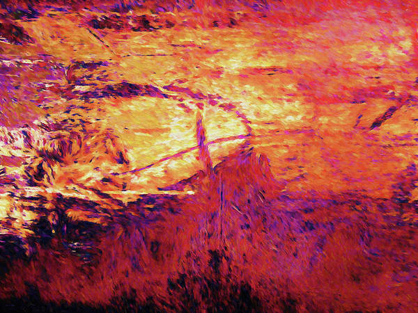Digital Art - Windswept Sunset by David King