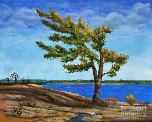 Painting - Windswept Tree by Monika Shepherdson