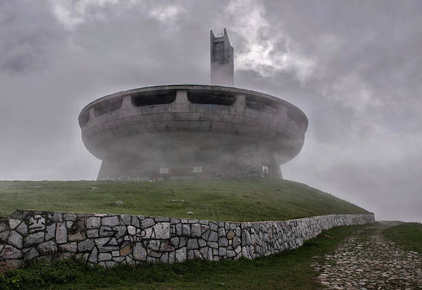 Photograph - Windy And Cloudy Day At Buzludzha by Jaroslaw Blaminsky