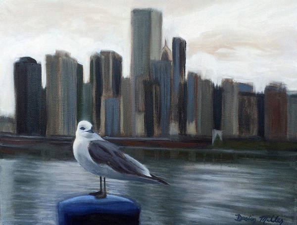 Painting - Windy City by Dustin Miller