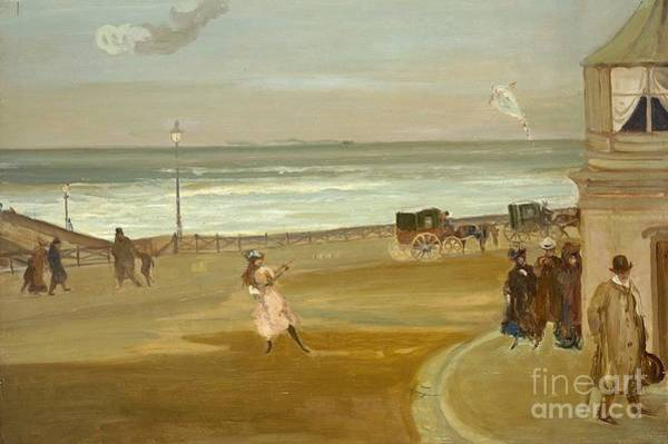 Brighton Painting - Windy Day At Brighton  by MotionAge Designs