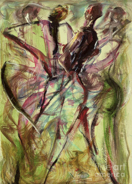 Dancers Wall Art - Painting - Windy Day by Ikahl Beckford