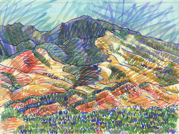 Painting - Windy Day, Mount Diablo by Judith Kunzle