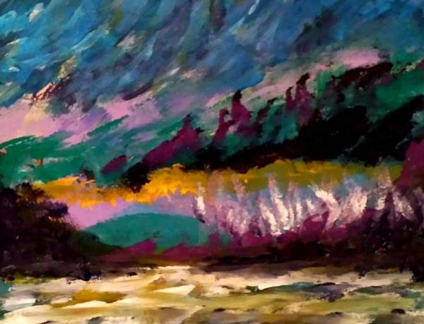 Painting - Windy Day On Gulf Islands by Nikki Dalton