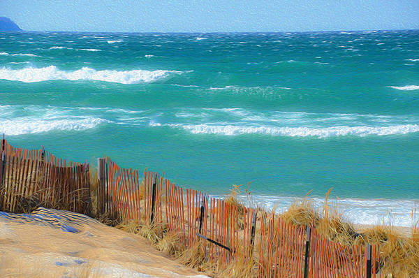 Photograph - Windy Day On Lake Michigan by SimplyCMB