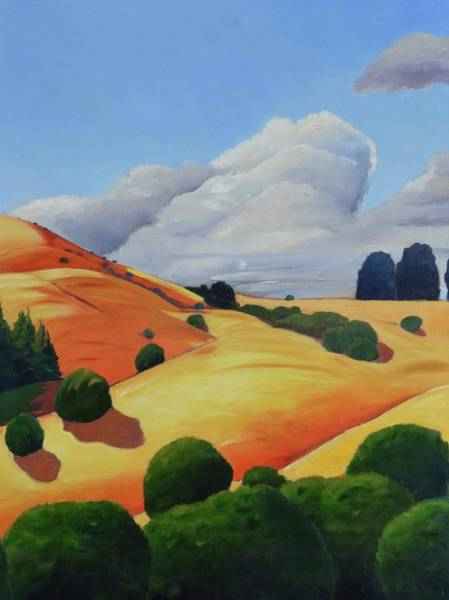 Area Painting - Windy Hill Triptych II by Gary Coleman