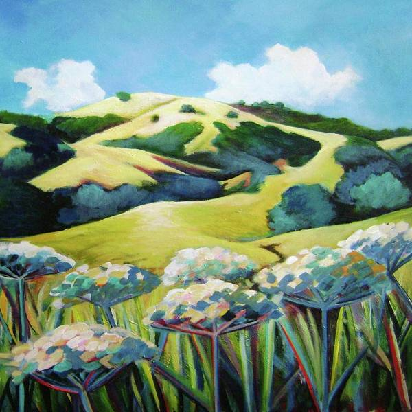 Comtemporary Wall Art - Painting - Windy Hill View by Stephanie  Maclean