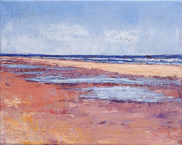 Painting - Windy October Beach by Trina Teele