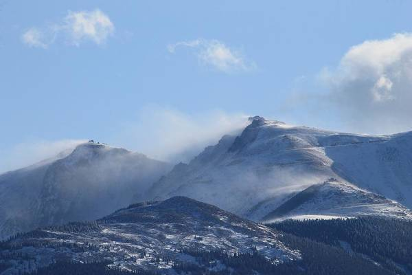 Photograph - Windy Pikes Peak  by Christopher Kirby