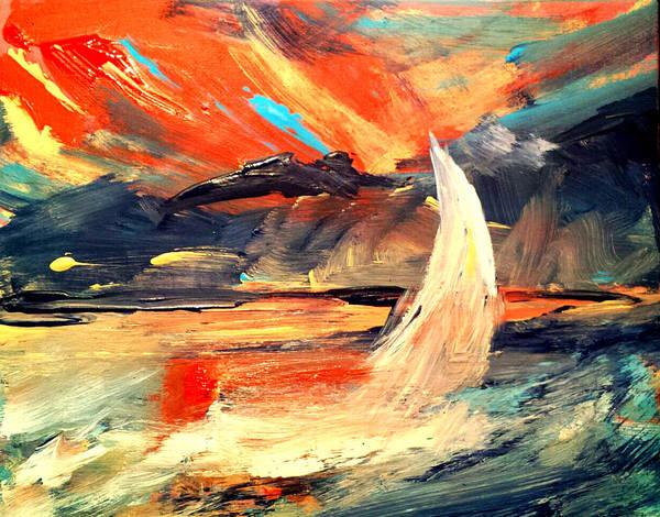 Windy Sail Art Print