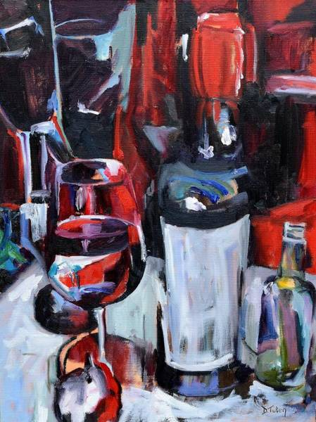 Painting - Wine Abstract by Donna Tuten