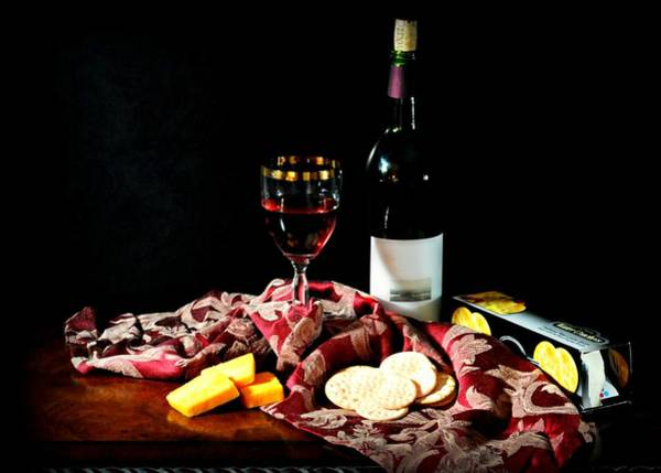 Wall Art - Photograph - Wine And Cheese by Diana Angstadt