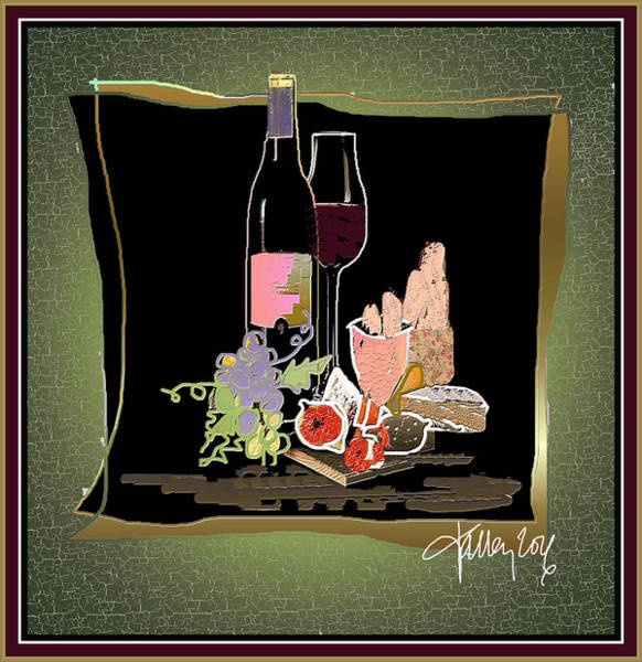 Digital Art - Wine And Cheese by Larry Talley