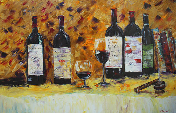 Painting - Wine And Cigar by Kevin Brown