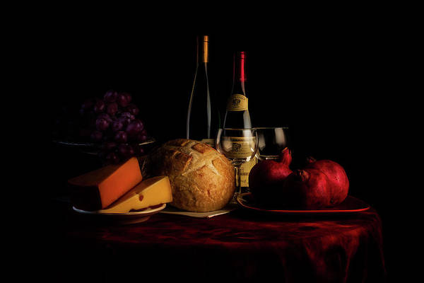 Wineglass Wall Art - Photograph - Wine And Dine by Tom Mc Nemar