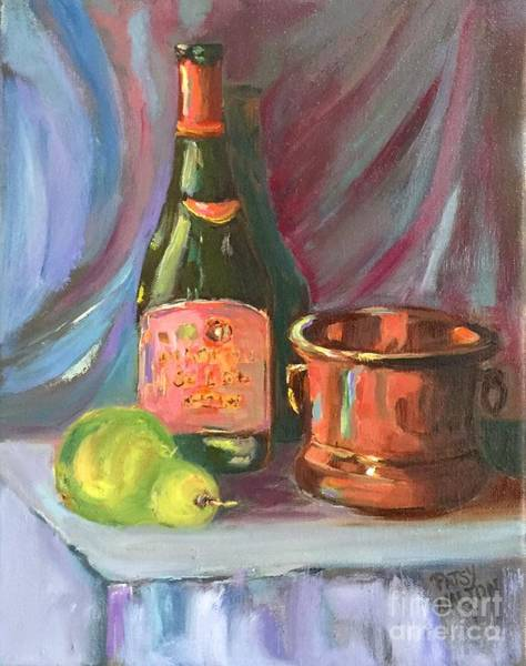 Painting - Wine And Fruit by Patsy Walton