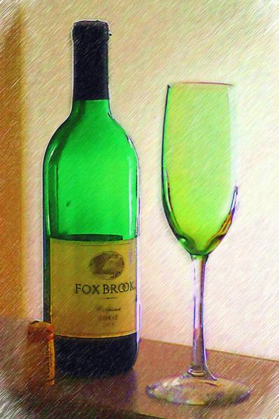 Photograph - Wine And Glass 2 by Donna Bentley