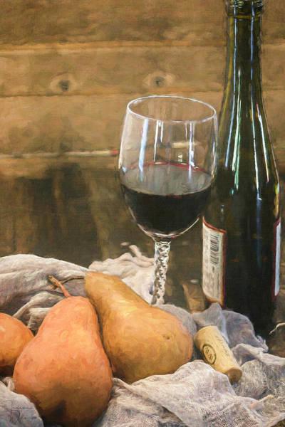Wine And Pears Art Print