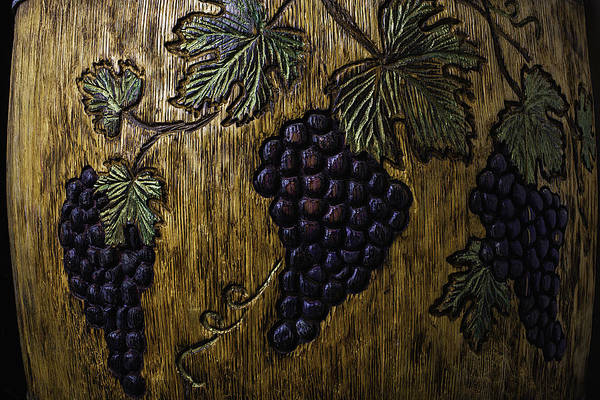 Wall Art - Photograph - Wine Barrel Carvings by Garry Gay