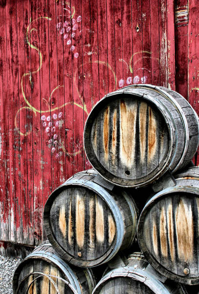 Old Barns Wall Art - Photograph - Wine Barrels by Doug Hockman Photography