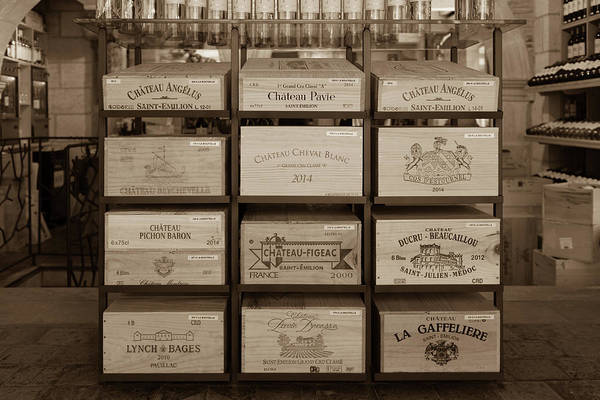 Photograph - Wine Boxes In A Bordeaux Winery by Georgia Fowler