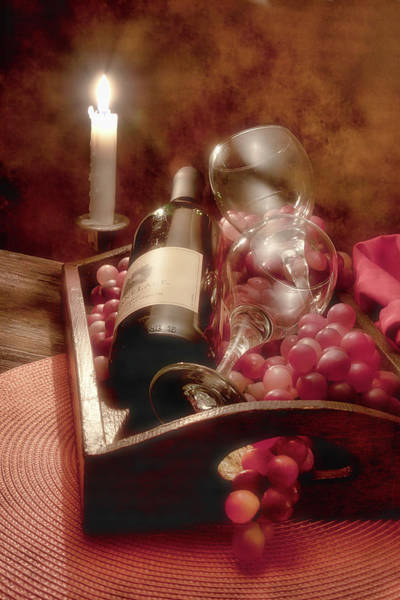 Bottles Photograph - Wine By Candle Light II by Tom Mc Nemar