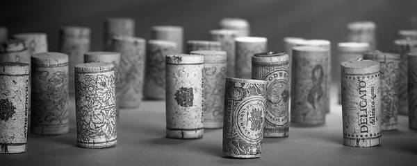 Wall Art - Photograph - Wine Cork Panorama In Black And White by Tom Mc Nemar
