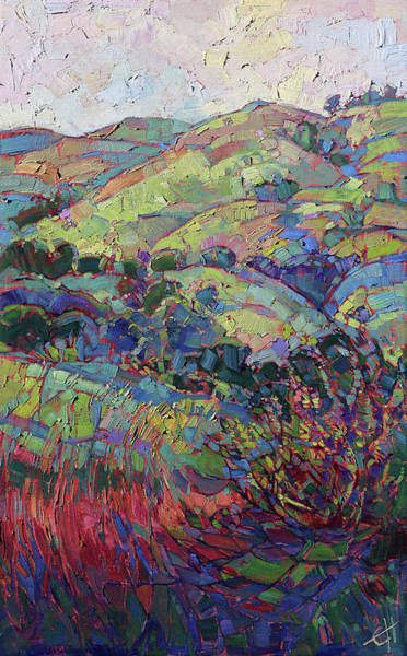 Wall Art - Painting - Wine Country Hills by Erin Hanson