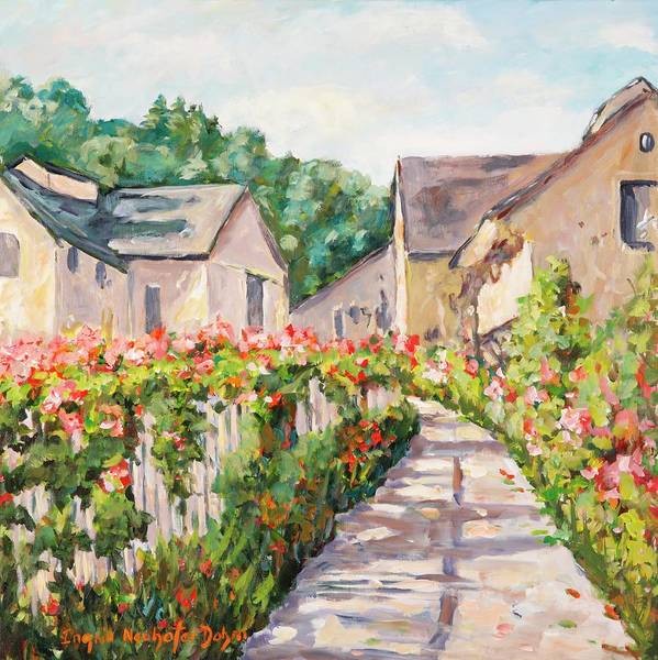 Painting - Wine Country Village by Ingrid Dohm