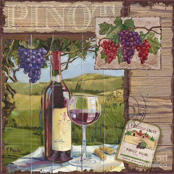 Champagne Painting - Wine County Collage I by Paul Brent