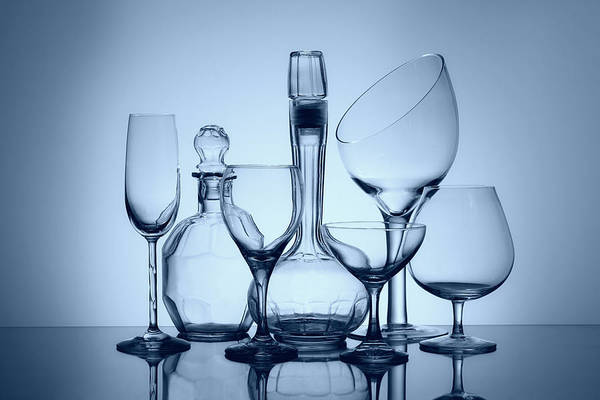 Wall Art - Photograph - Wine Decanters With Glasses by Tom Mc Nemar