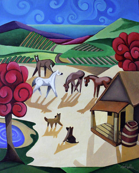 Wall Art - Painting - Wine Farm by Lance Headlee