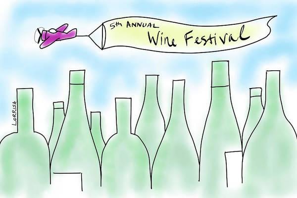 Digital Art - Wine Festival  by Lorrisa Dussault