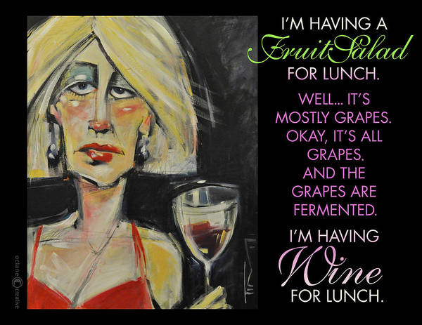 Painting - Wine For Lunch Poster by Tim Nyberg