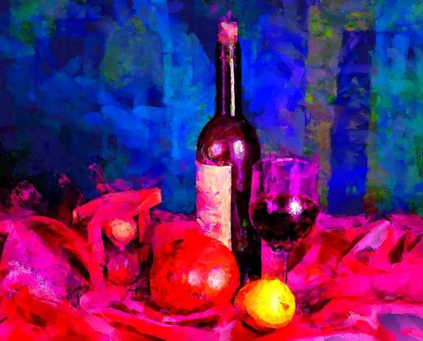 Digital Art - Wine Fruit And Hourglass by Caito Junqueira