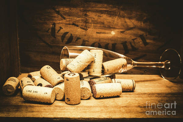 Photograph - Wine Glass With An Assortment Of Bottle Corks by Jorgo Photography - Wall Art Gallery