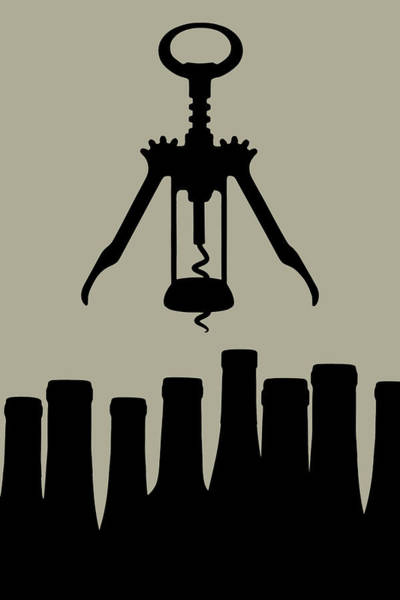 Poster Photograph - Wine Graphic Silhouette by Tom Mc Nemar