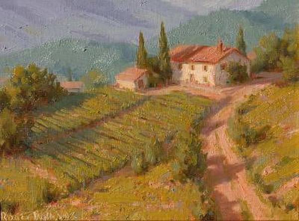 Wall Art - Painting - Wine Growers House - Italy by Roger Williams