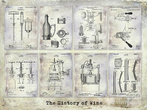 Wall Art - Photograph - Wine History Patents by Jon Neidert