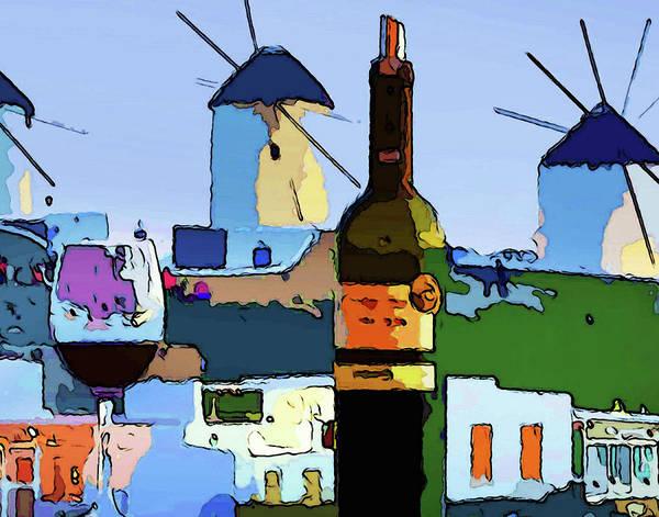 Wine In Mykonos Art Print