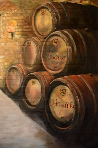 Painting - Wine In The Barrels - Chateau Meichtry by Jan Dappen