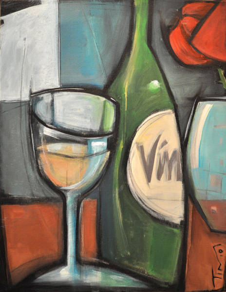 Painting - Wine Is Bottled Poetry by Tim Nyberg