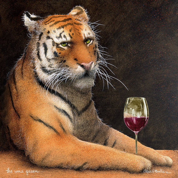 Tasting Painting - Wine Queen... by Will Bullas